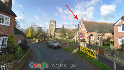 Google StreetView of Village Hall approached from South