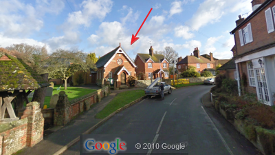 Google StreetView of Village Hall approached from West