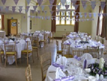 Main Hall being used for a Wedding Reception